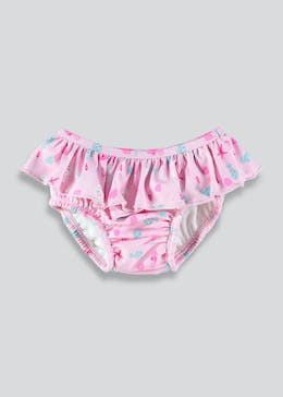Girls Frill Swim Nappy (Newborn-9mths)