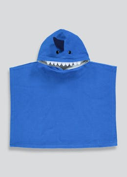 Kids Shark Hooded Towel Poncho (Small-Large)
