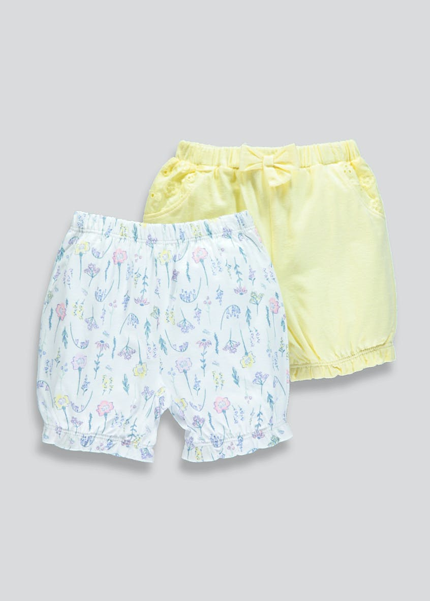 Girls 2 Pack Shorts (Newborn-23mths)