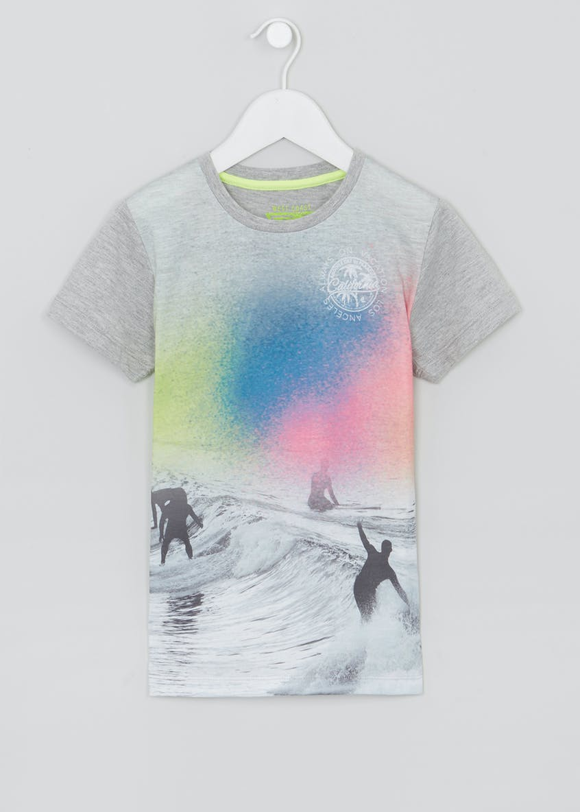 Boys Surf Spray Paint T-Shirt (4-13yrs)