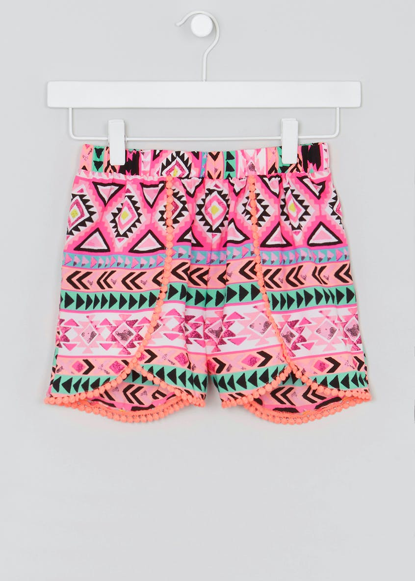 Girls Candy Couture Aztec Print Shorts (9-16yrs)