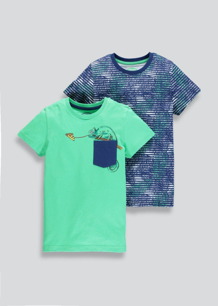 Boys 2 Pack T-Shirts (4-13yrs)