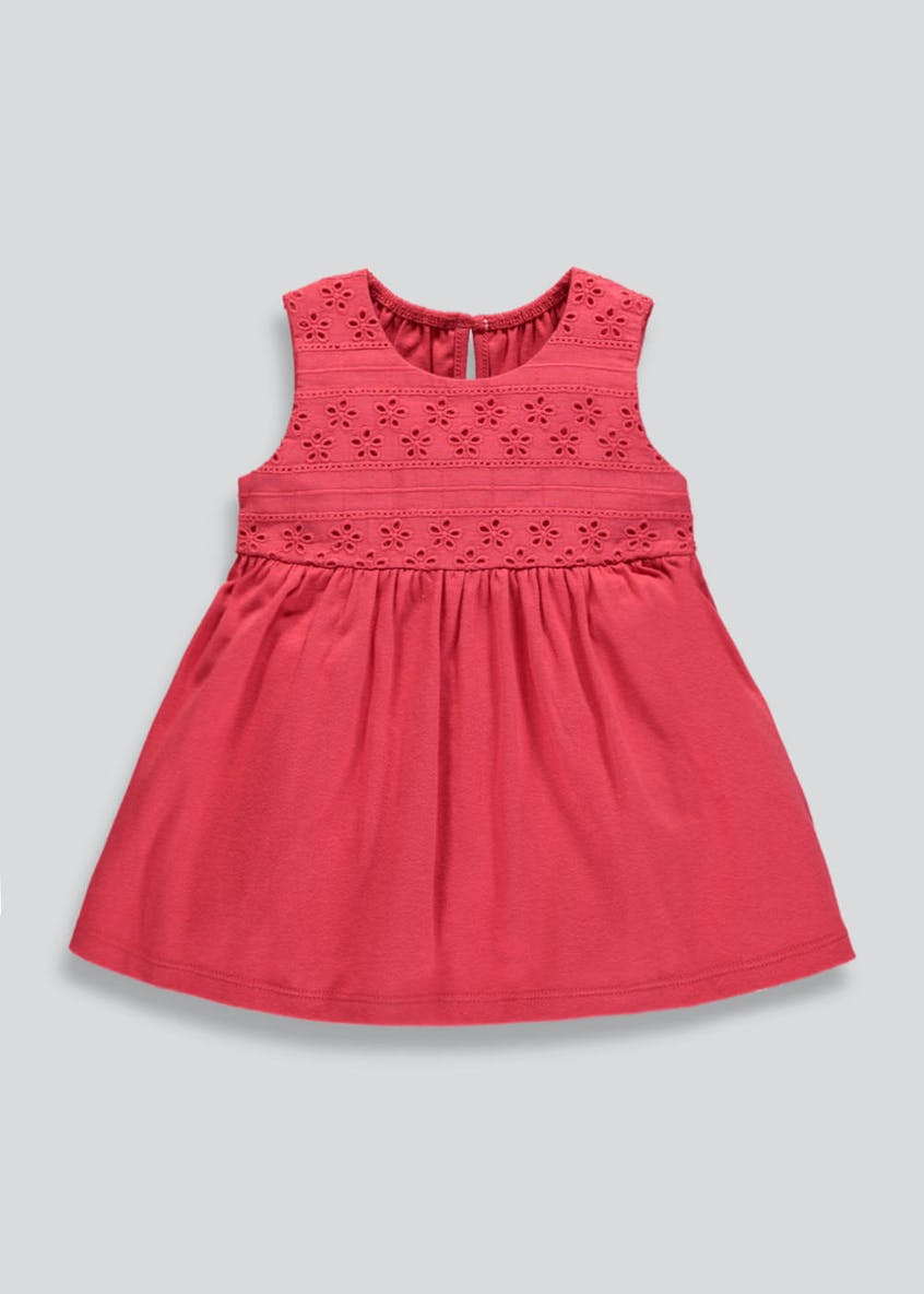 Girls Broderie Anglaise Dress (Newborn-18mths)