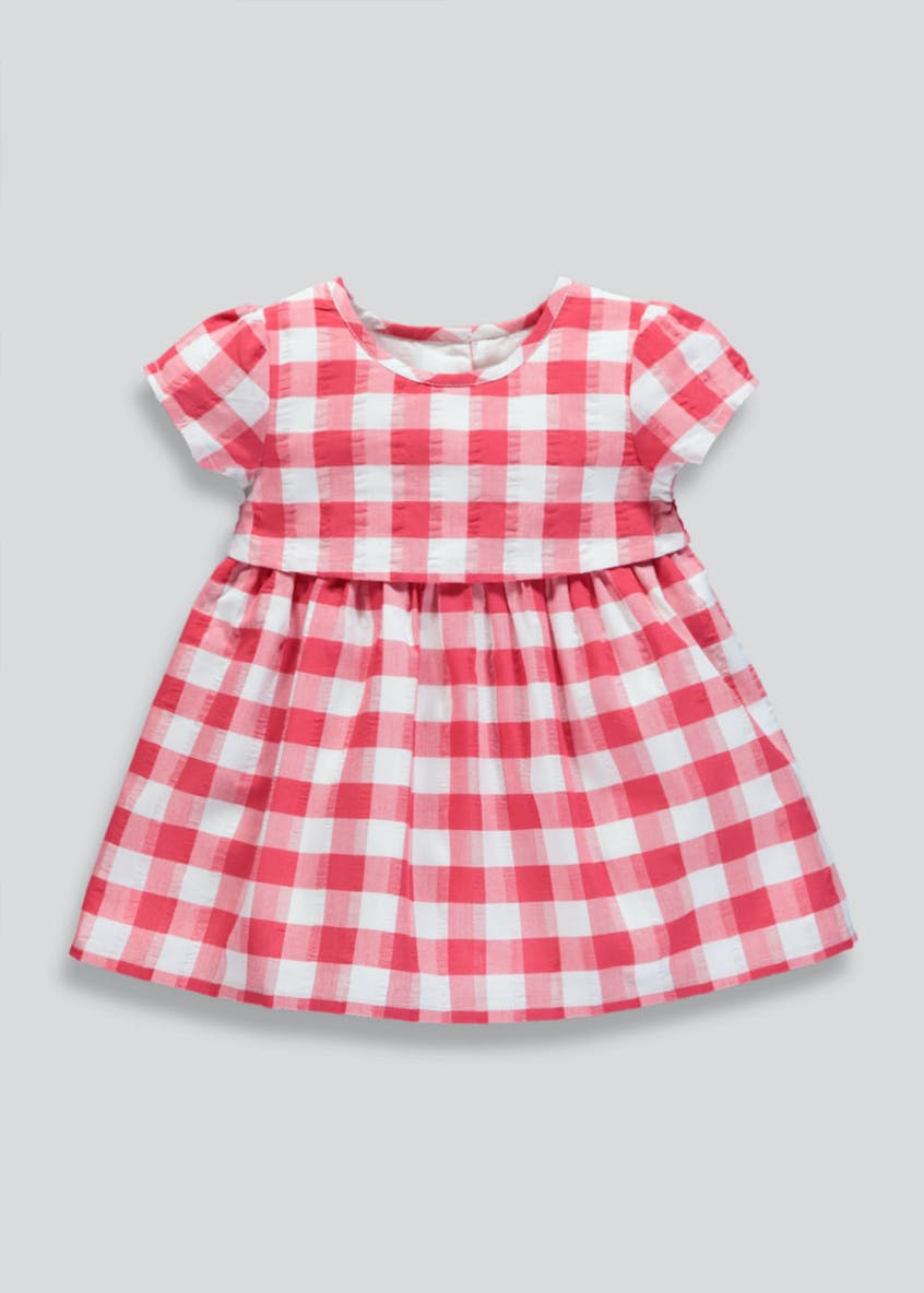 Girls Gingham Check Dress (Newborn-18mths)