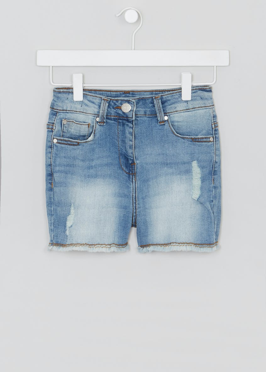 Girls Candy Couture Stretch Denim Shorts (9-16yrs)