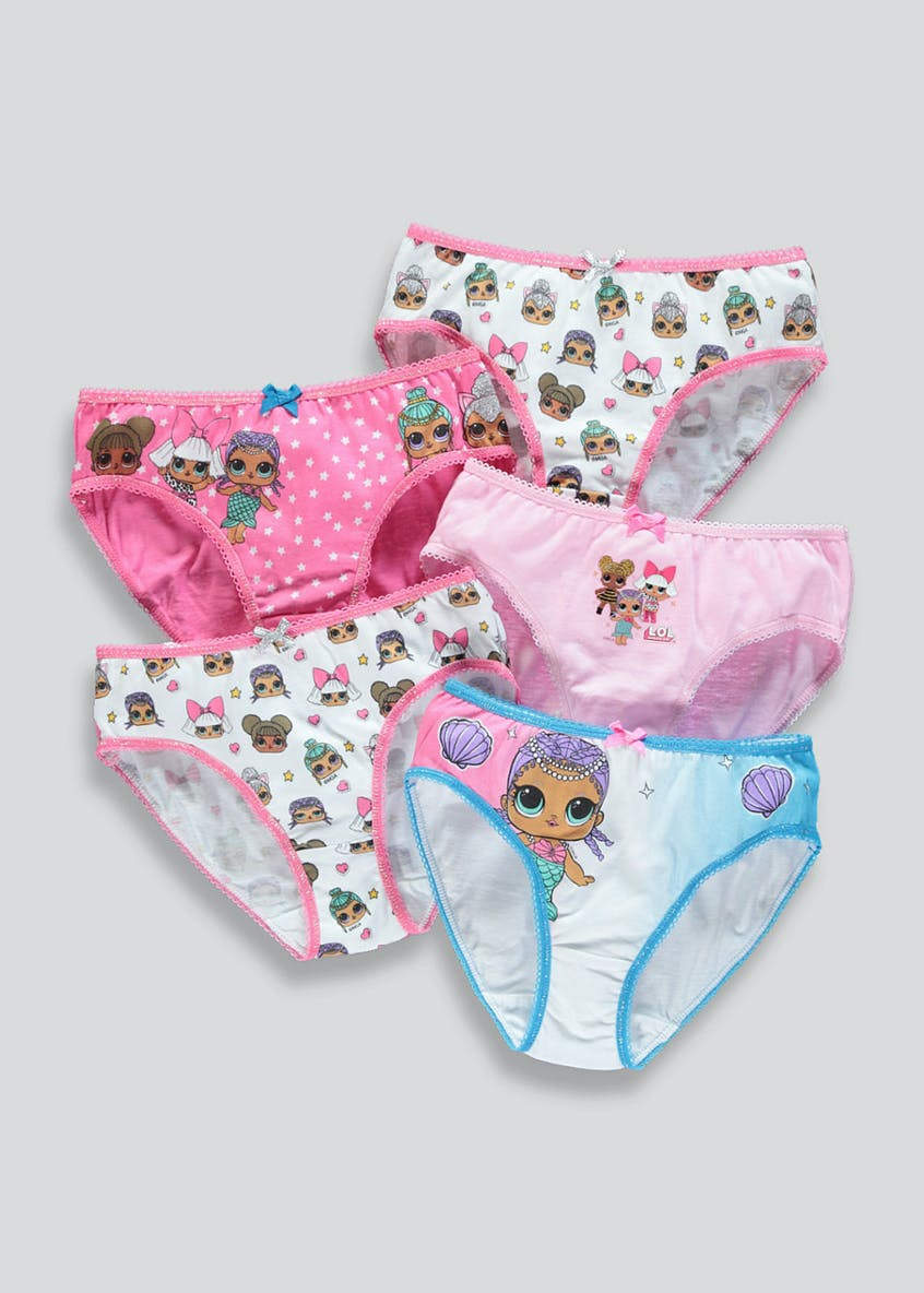 Girls 5 Pack L.O.L. Surprise Knickers (4-9yrs)