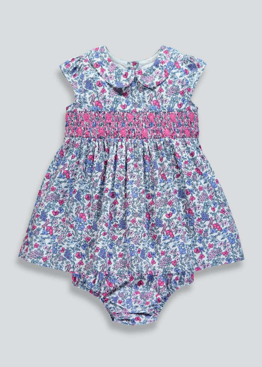 Girls Family Floral Dress & Knickers Set (Newborn-18mths)