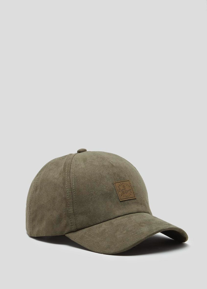 Suede Effect Badge Cap