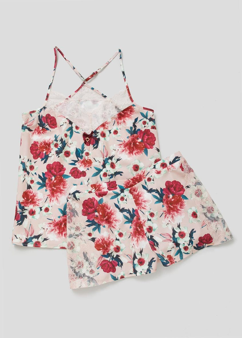 Julien Macdonald Floral Satin Cami Pyjama Set