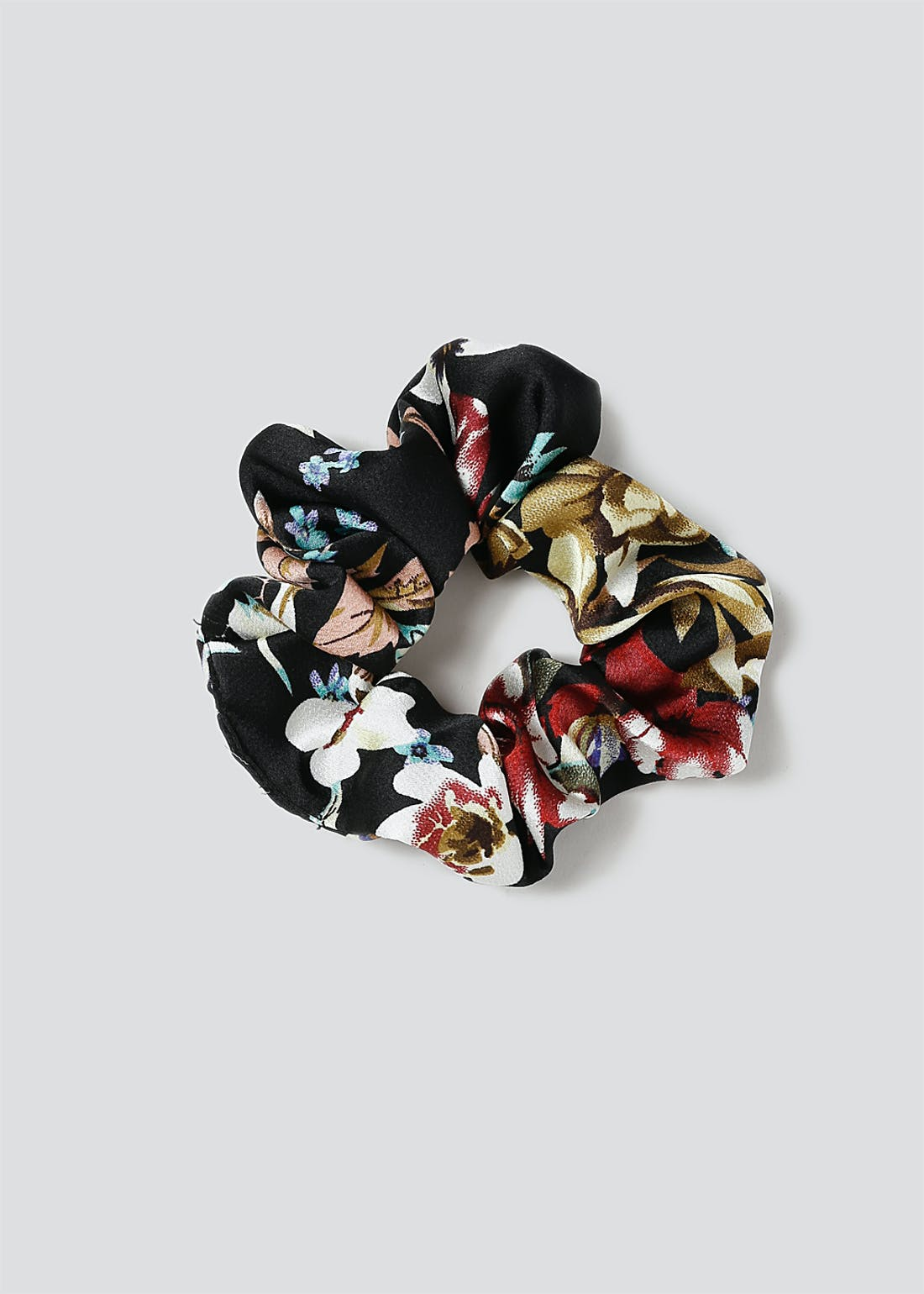 Floral Fabric Hair Scrunchie