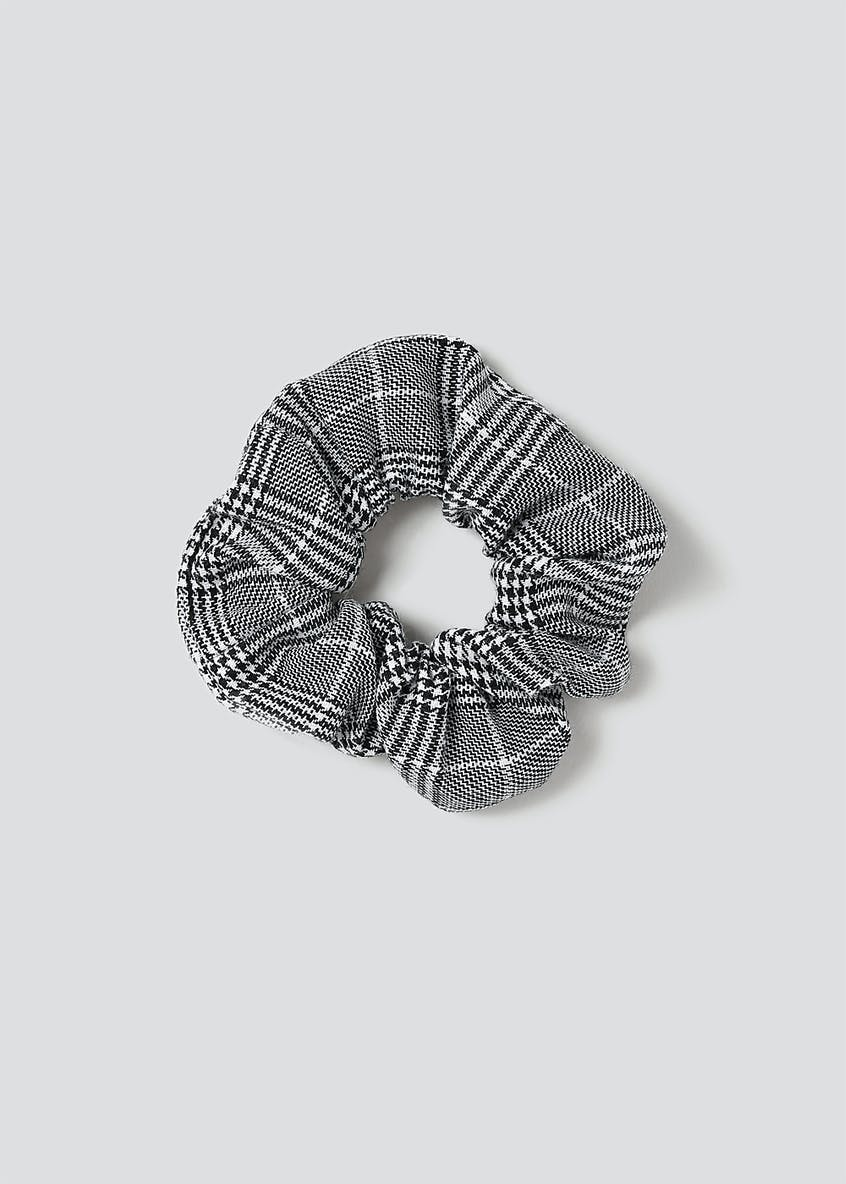 Checked Fabric Scrunchie