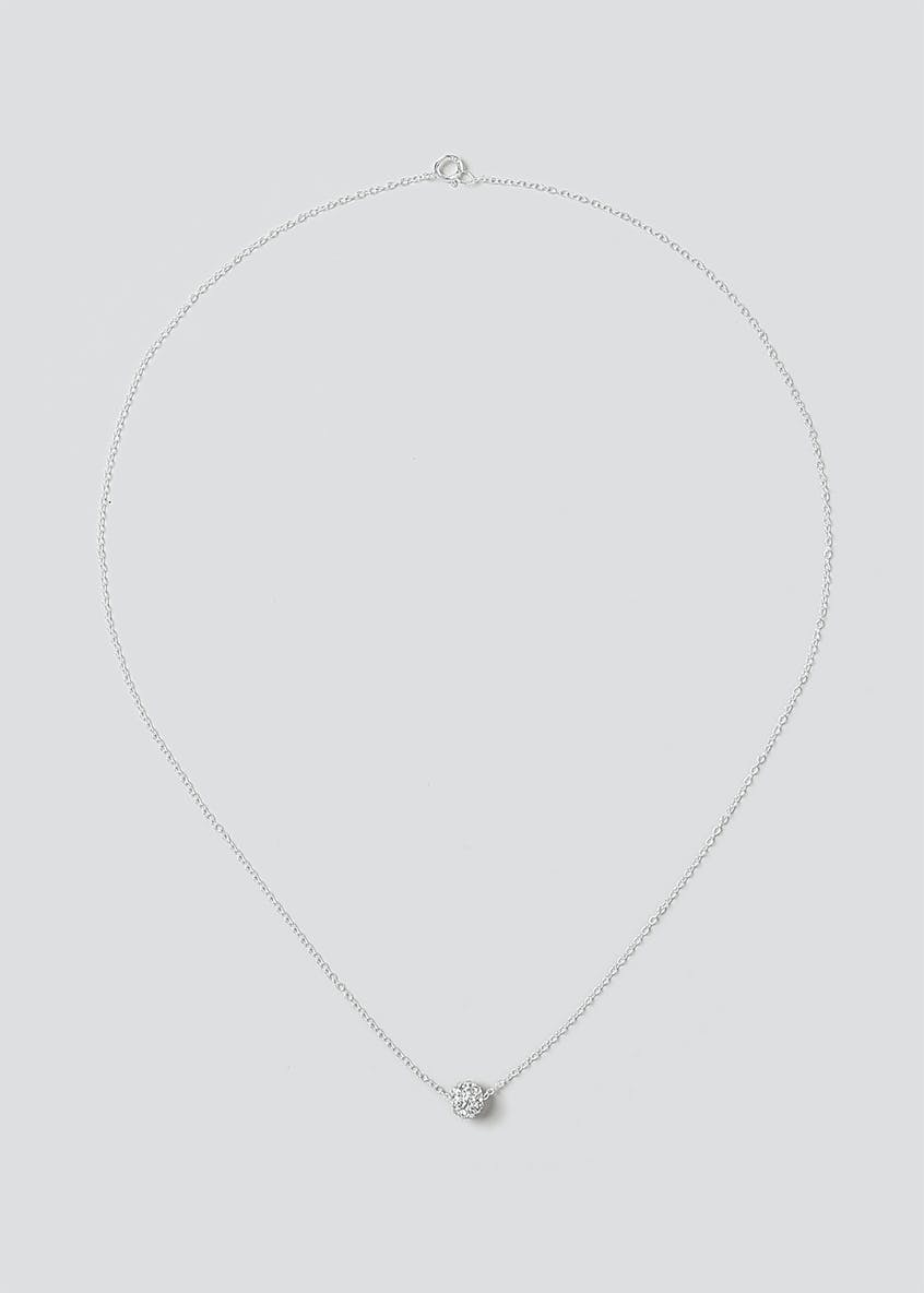 Sterling Silver 925 Sparkle Ball Ditsy Necklace