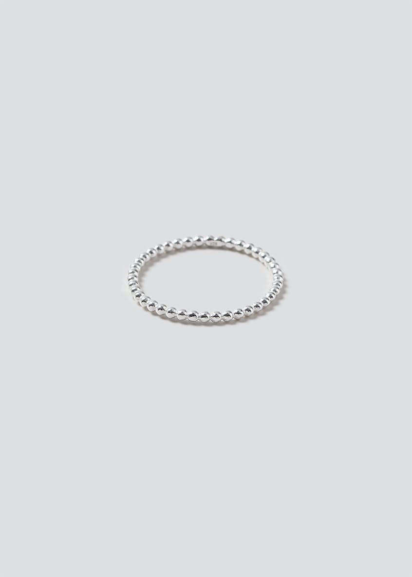Sterling Silver 925 Textured Band Ring
