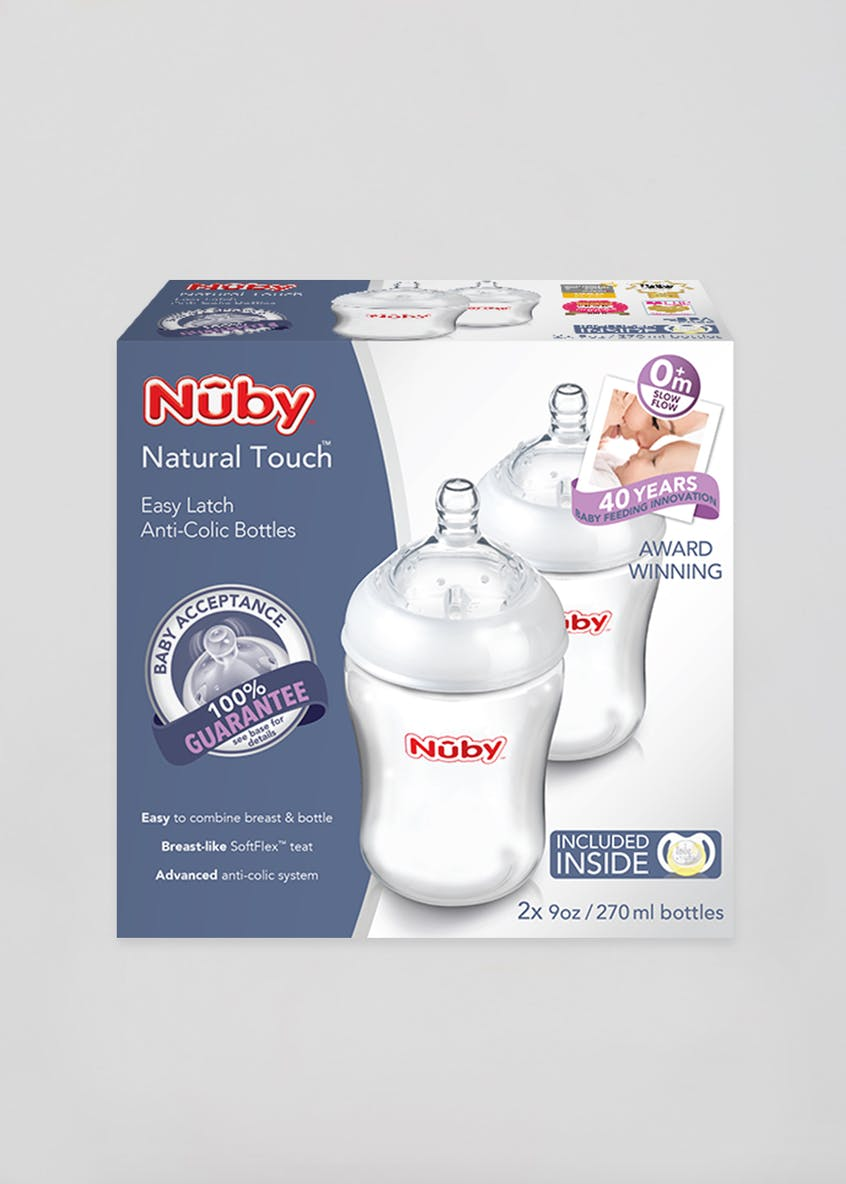 Nuby Natural Touch Twin Pack Bottles
