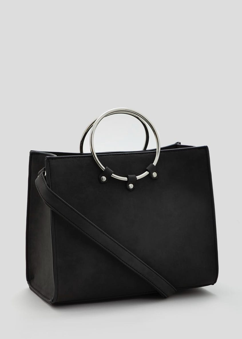 Ring Handle Square Tote Bag