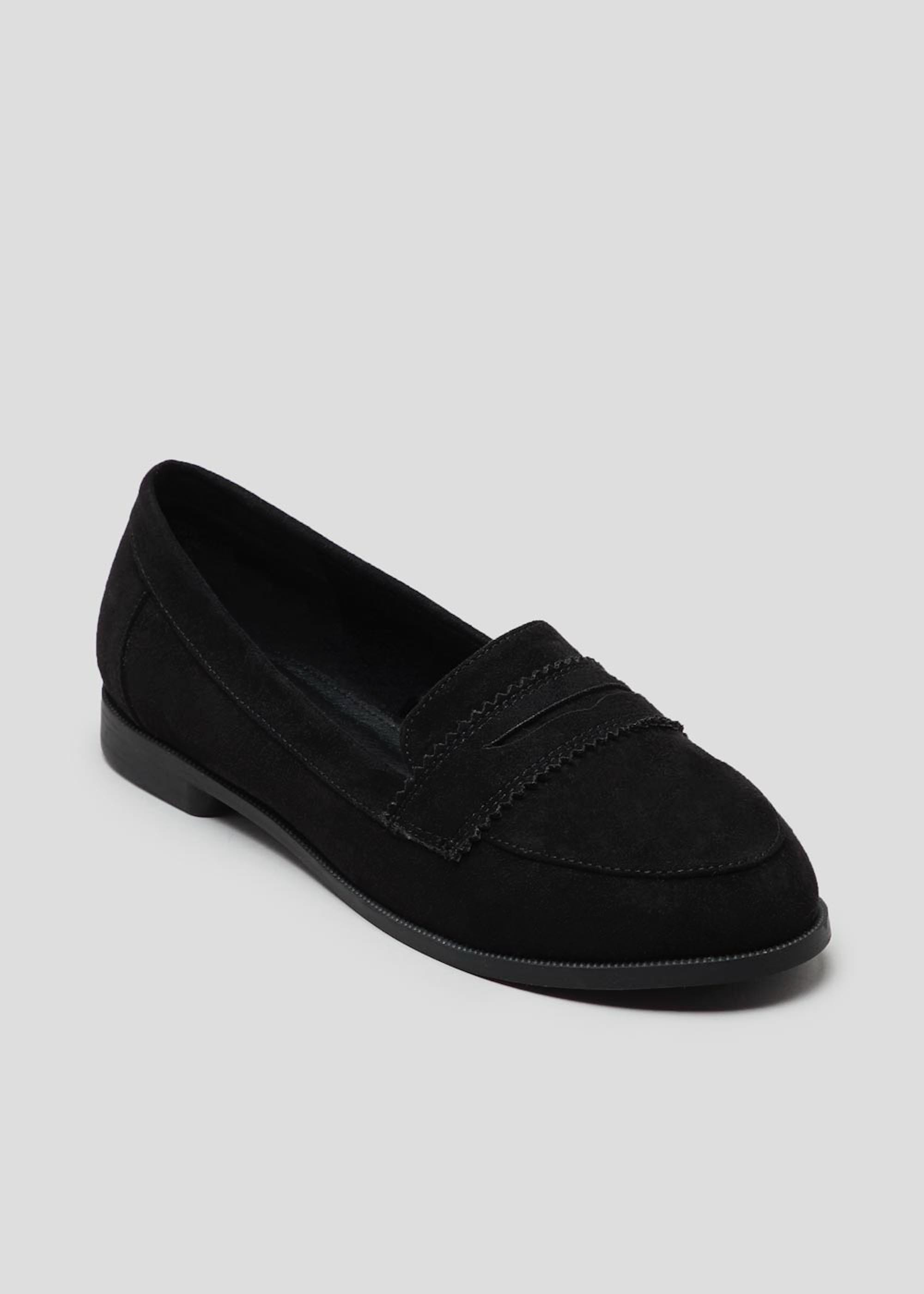 Wide Fit Black Loafers Black 1P2fdC
