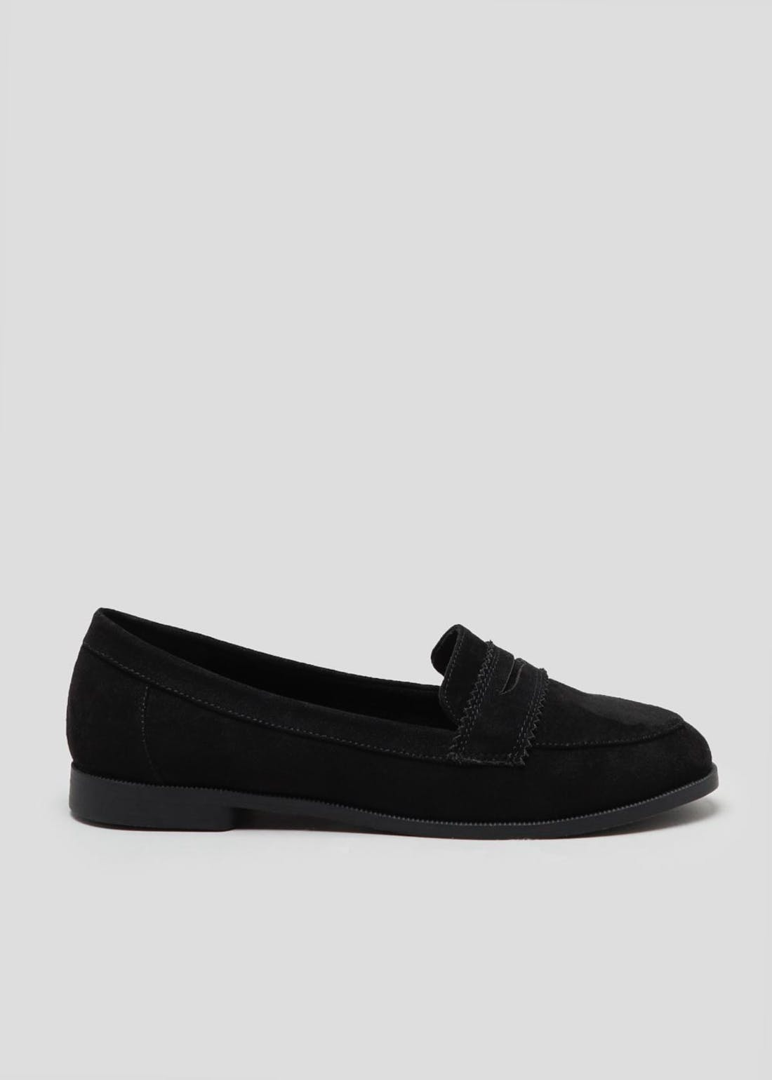 Wide Fit Black Loafers