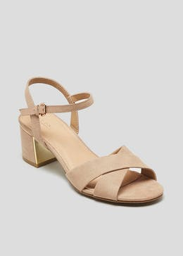 086d93a2e Cross Strap Block Heel Sandals