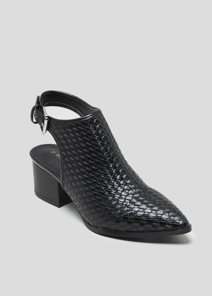 Woven Pointed Shoe Boots