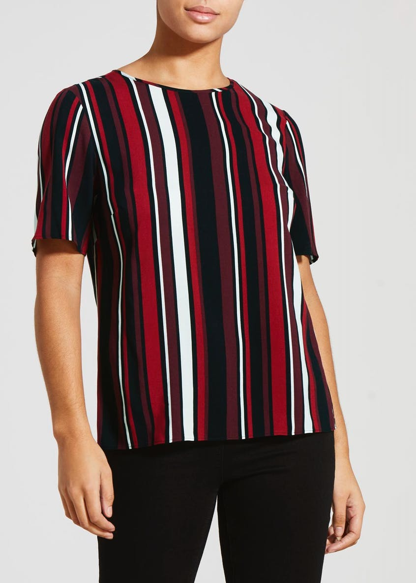 Stripe Viscose Box Top