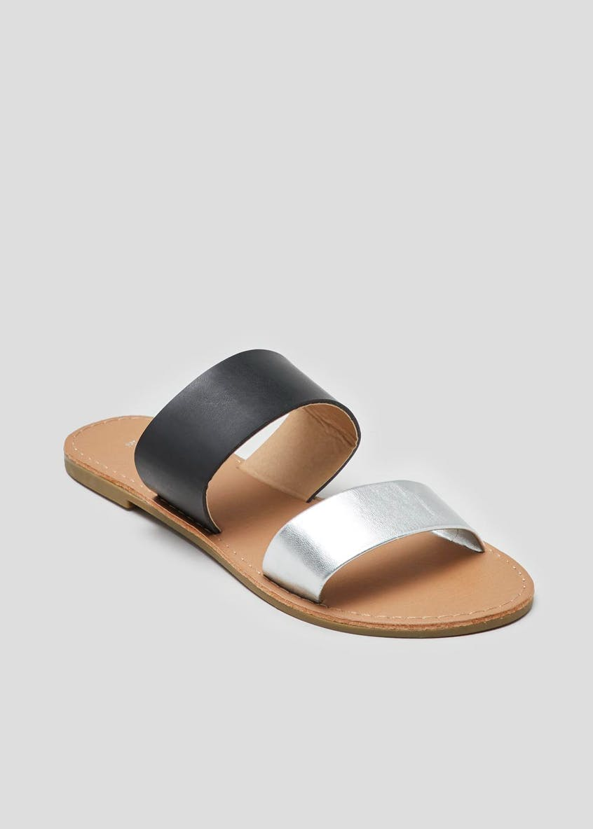 Wide Fit Twin Strap Sandals