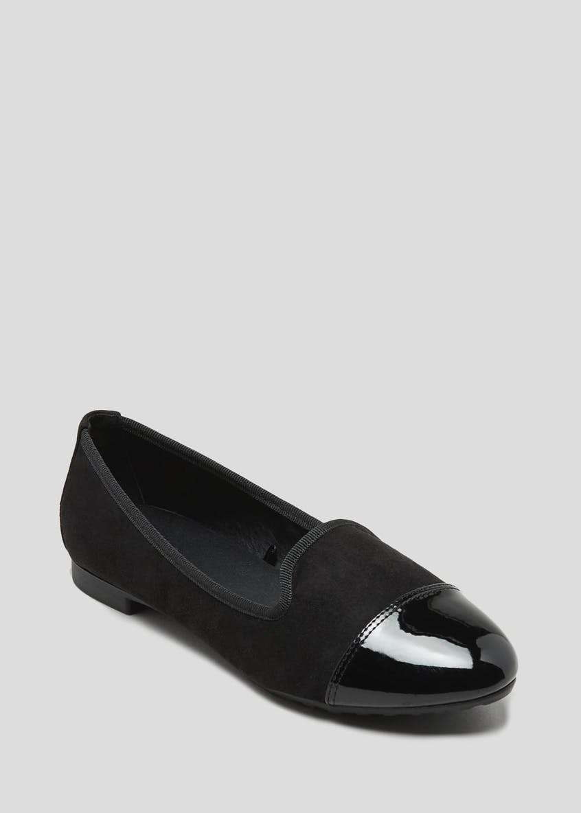 Wide Fit Toe Cap Ballet Shoes