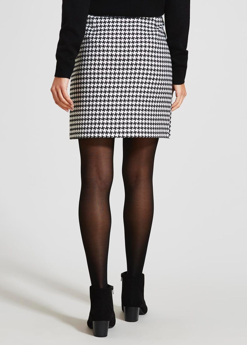 Dogtooth A-Line Skirt