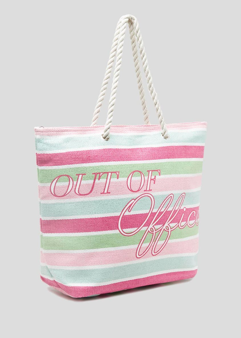 Out of Office Stripe Beach Bag
