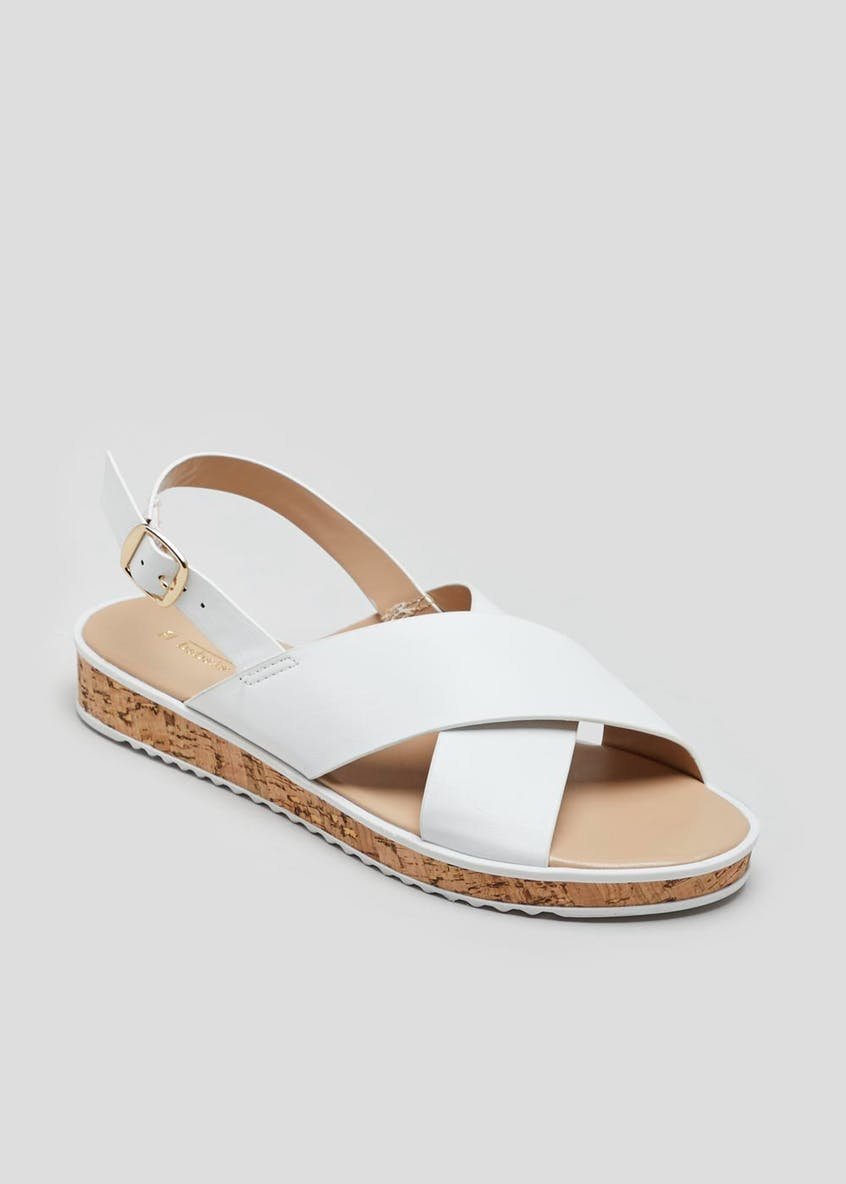 Cork Cross Strap Sandals
