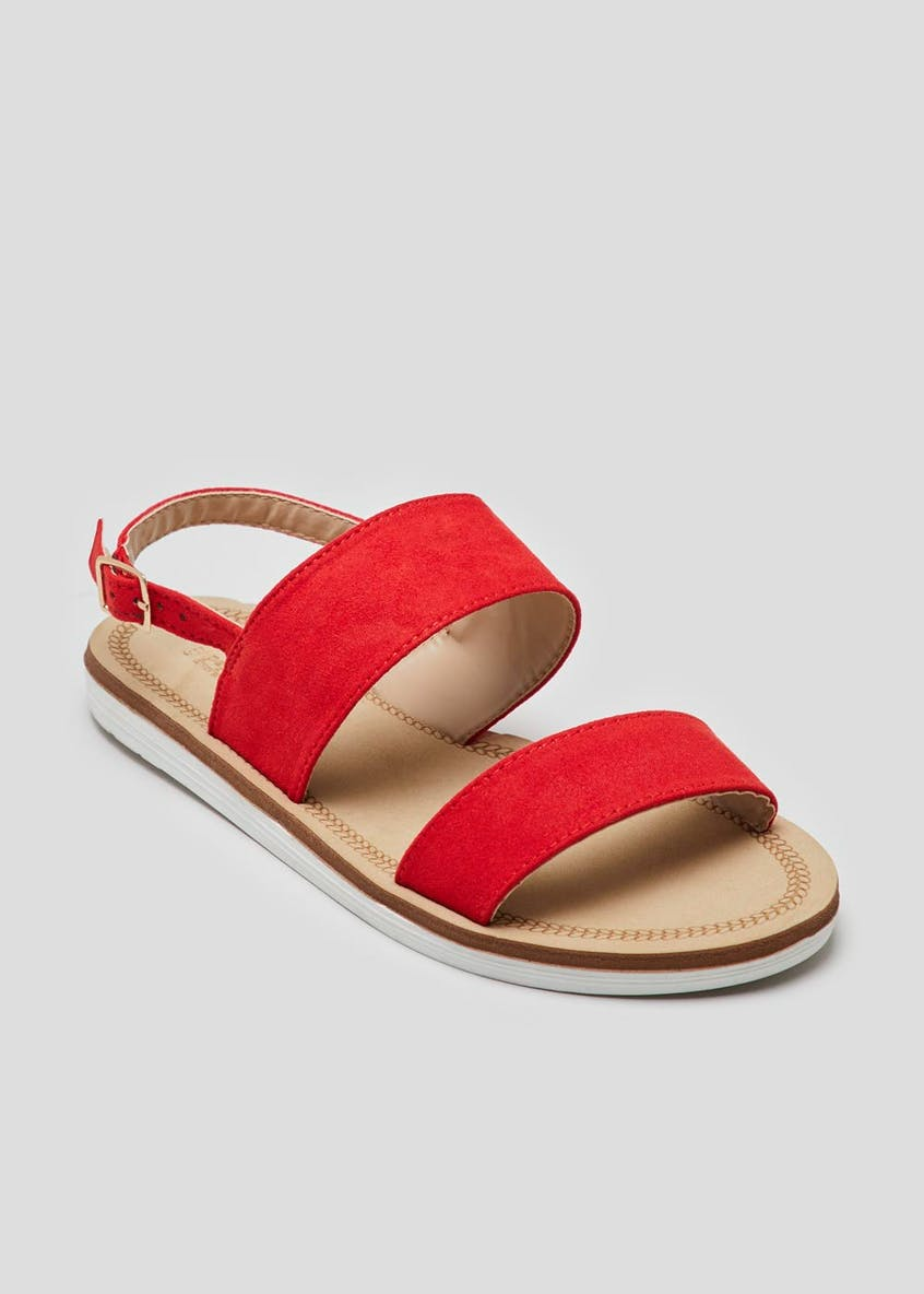 Wide Fit Double Strap Sandals