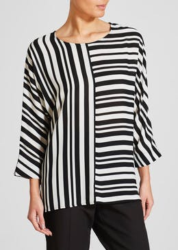 Stripe Batwing Box Top