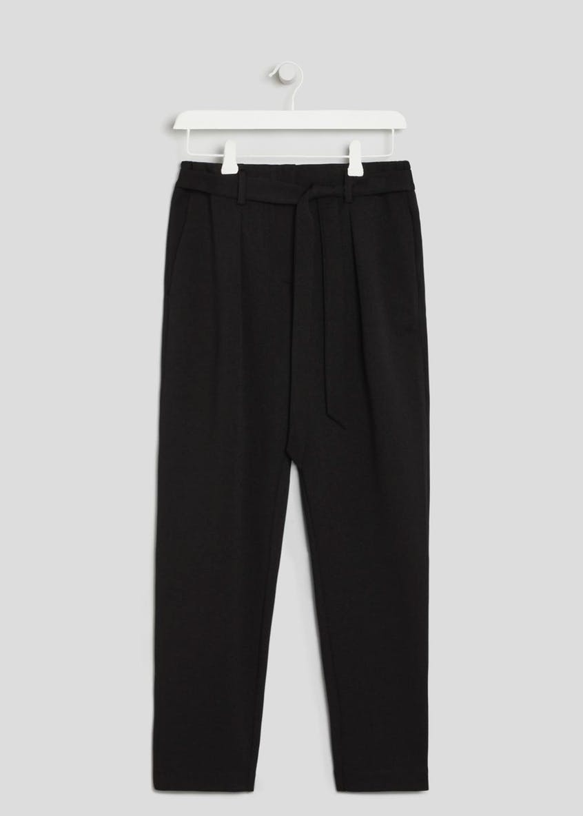 Formal Belted Jogging Trousers