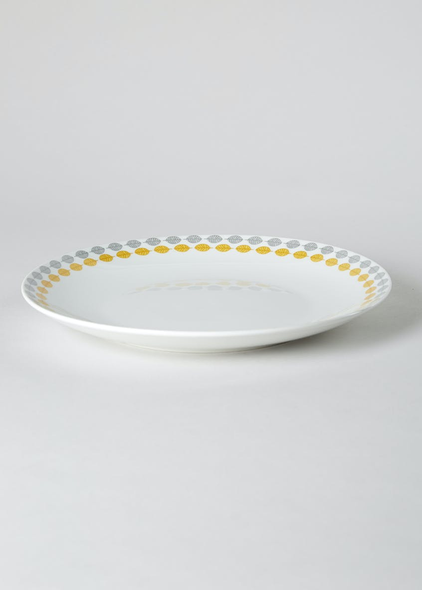 Scandi Border Round Dinner Plate (27cm)