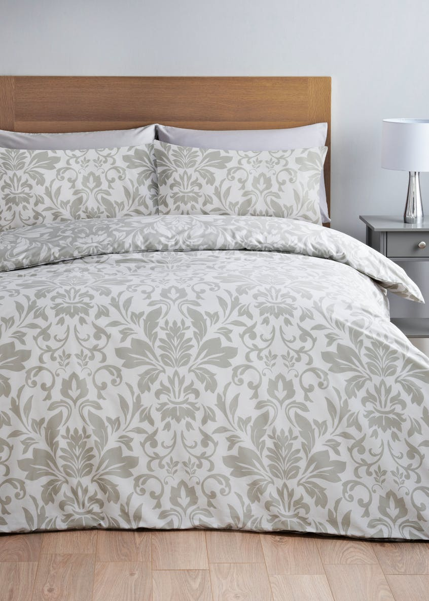 Damask Print Duvet Cover