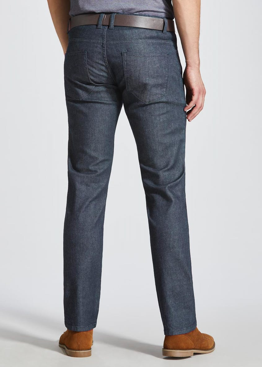 Big & Tall Belted Stretch Slim Fit Jeans