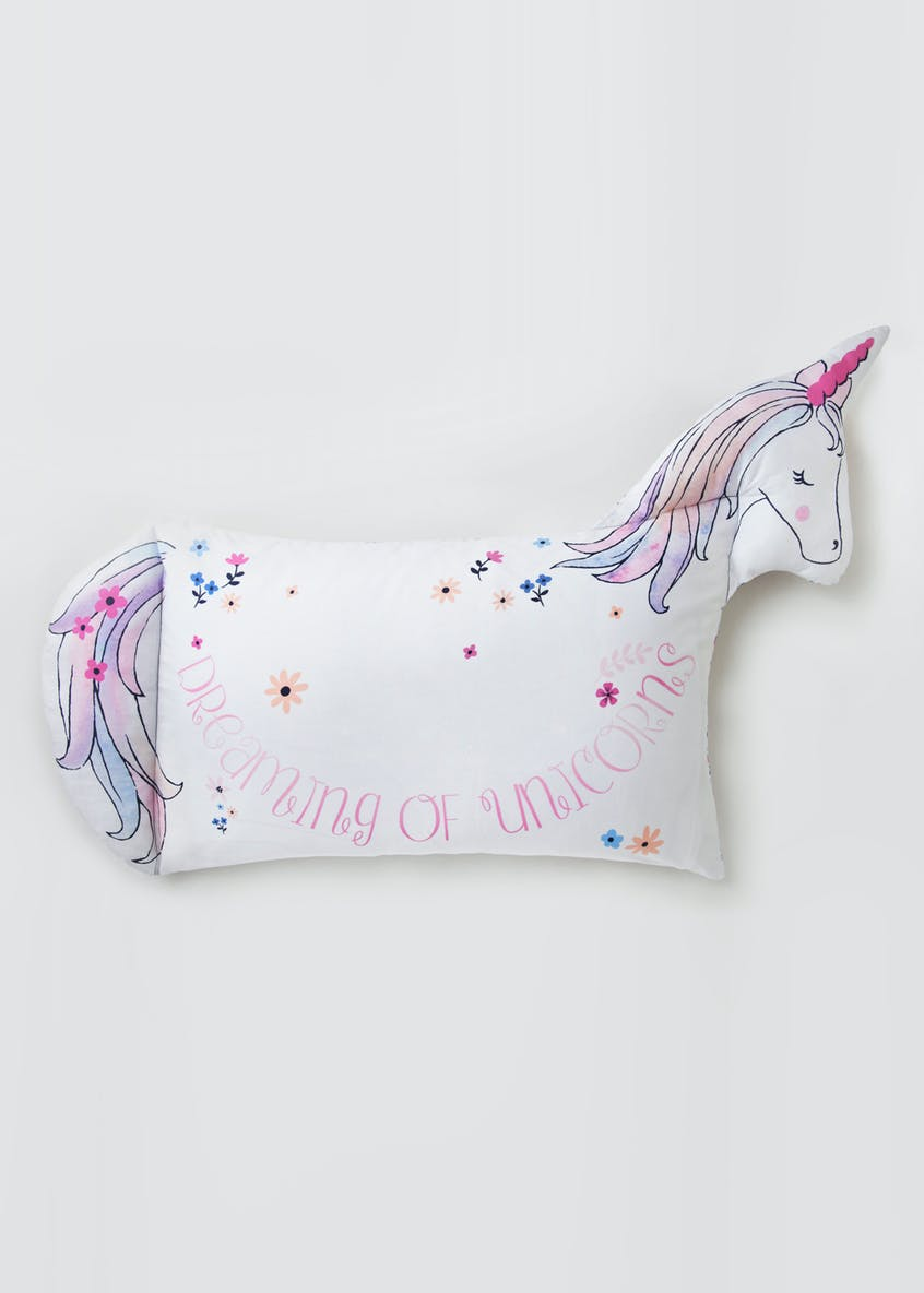Kids Unicorn Shaped Pillowcase