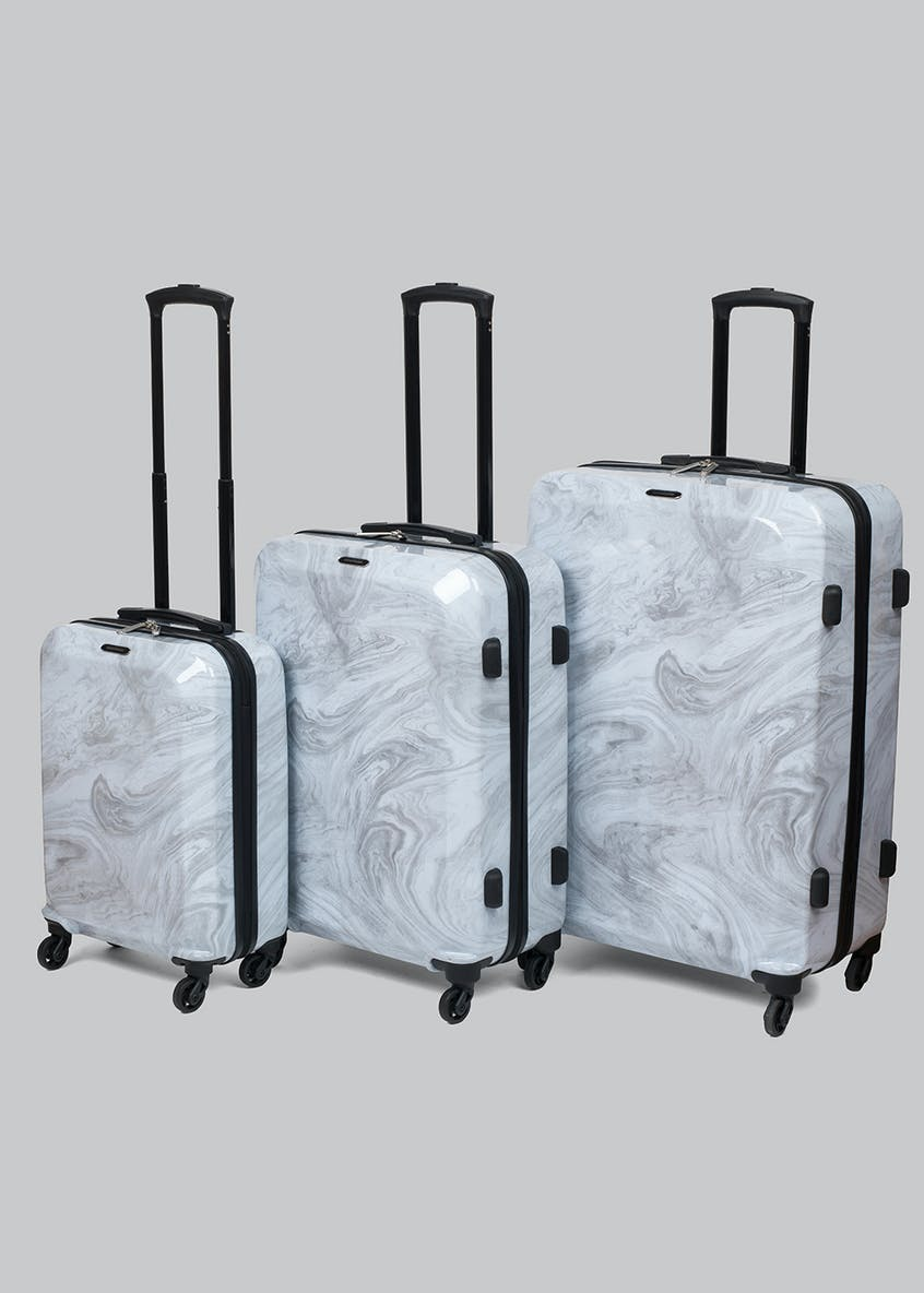 Constellation Marble Bevelled Edge Suitcase