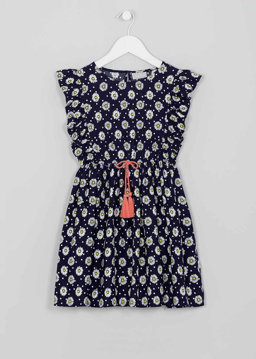 Girls Daisy Print Dress (4-13yrs)