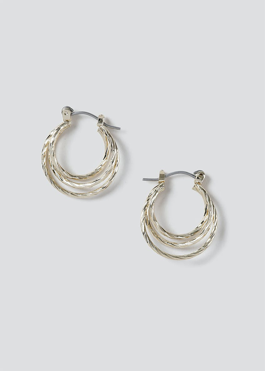 Multi Row Small Hoop Earring