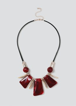 Red Piano Collar Necklace