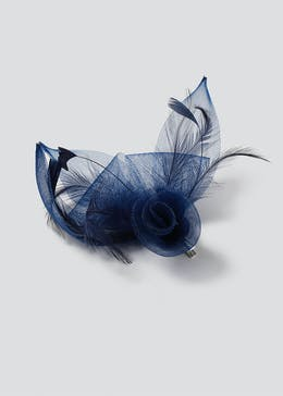 Navy Loop Fascinator Clip