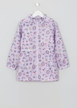 Kids Unicorn Lightweight Fleece Lined Rain Mac (4-13yrs)