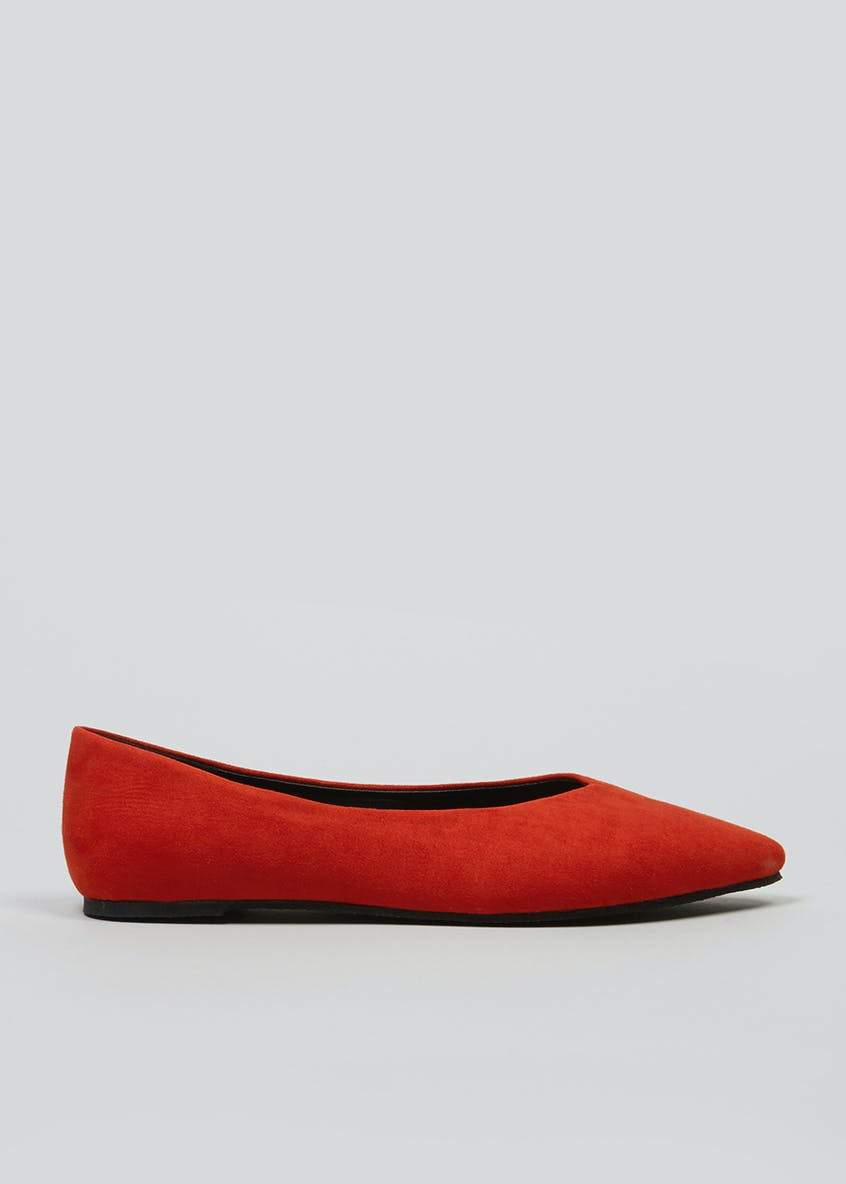 High Vamp Pointed Ballet Shoes