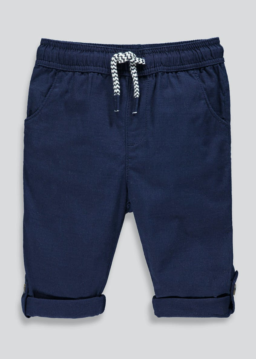 Boys Linen Roll up Trousers (9mths-6yrs)