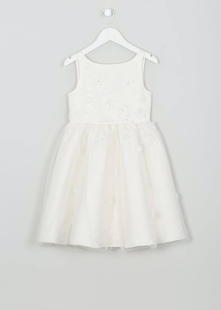 Girls Mesh Floral Flower Girl Dress (12mths-13yrs)
