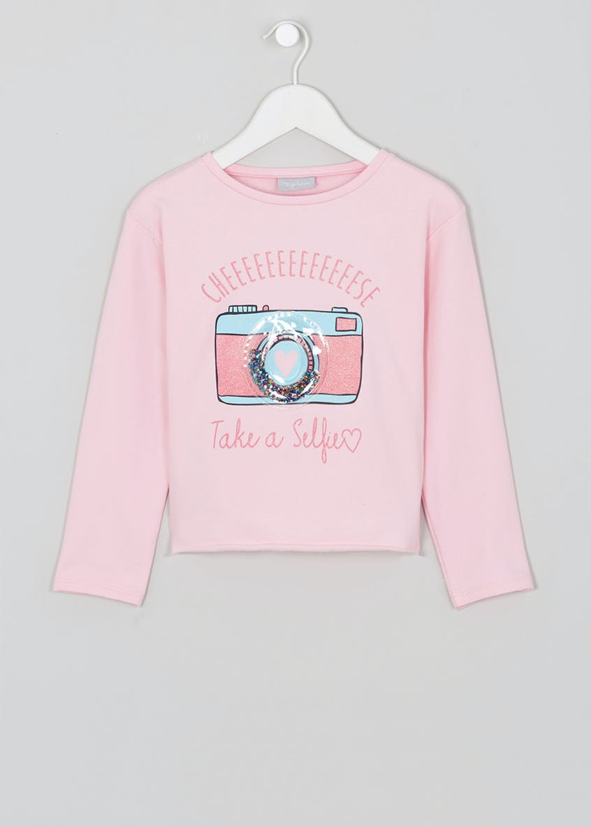 Girls Selfie Slogan Sweatshirt (4-13yrs)