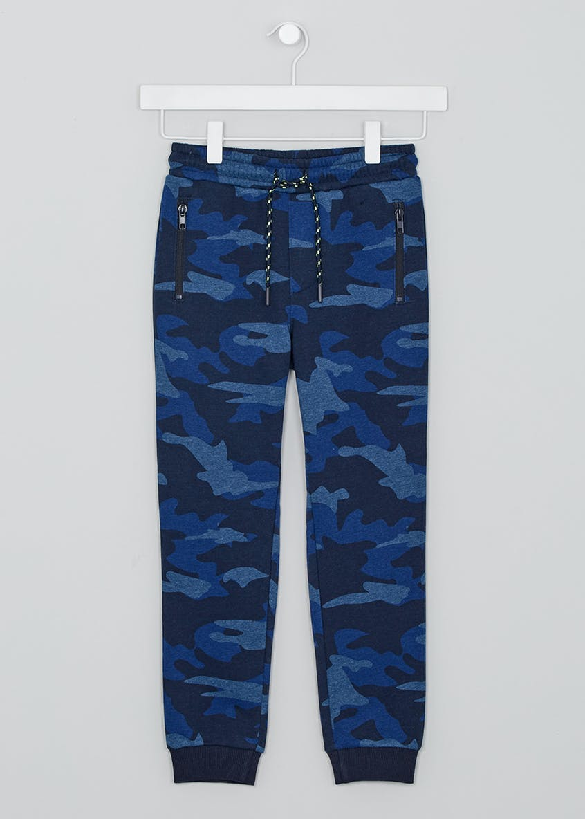 Boys Camo Jogging Bottoms (4-13yrs)
