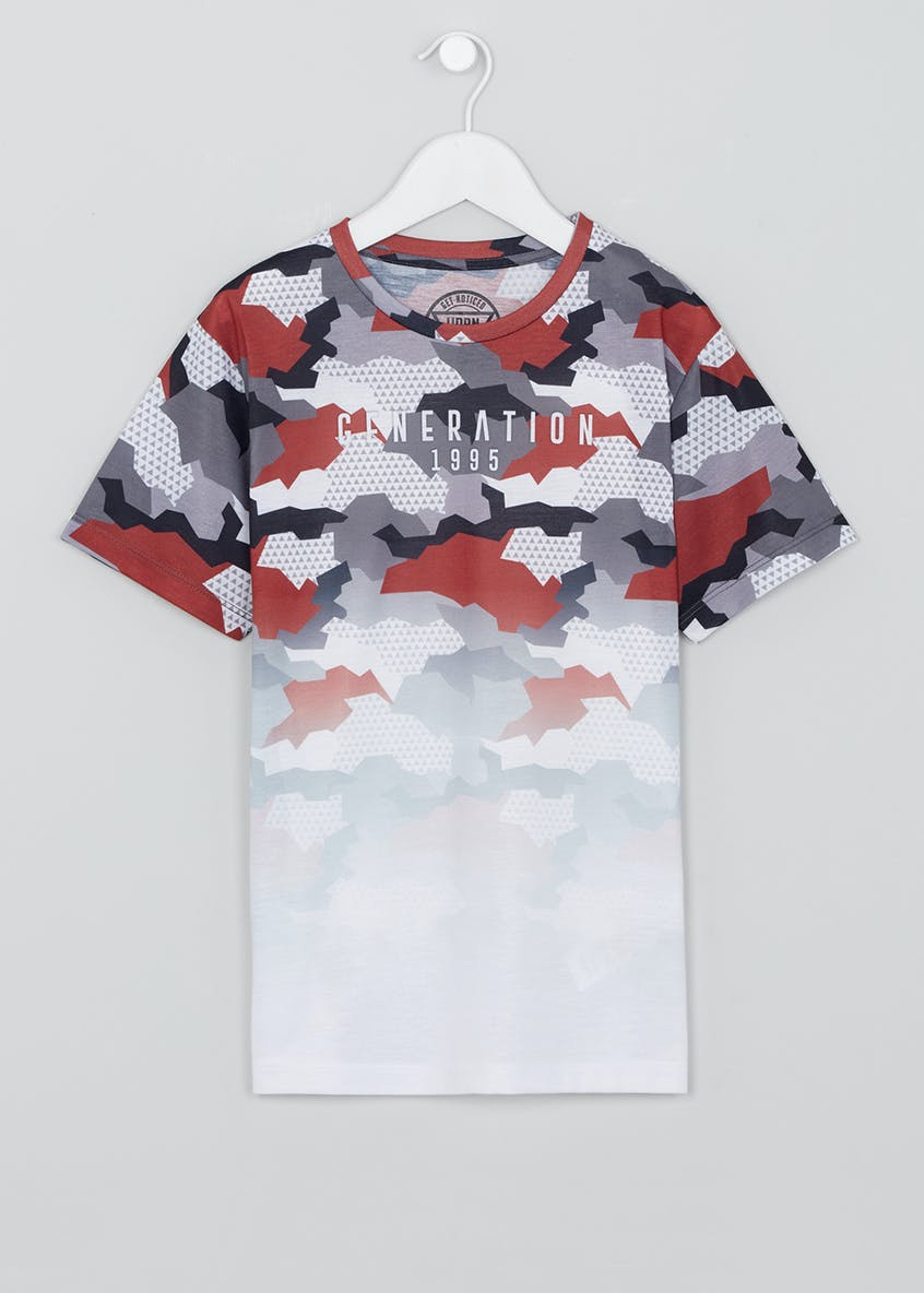 Boys Camo T-Shirt (9-16yrs)