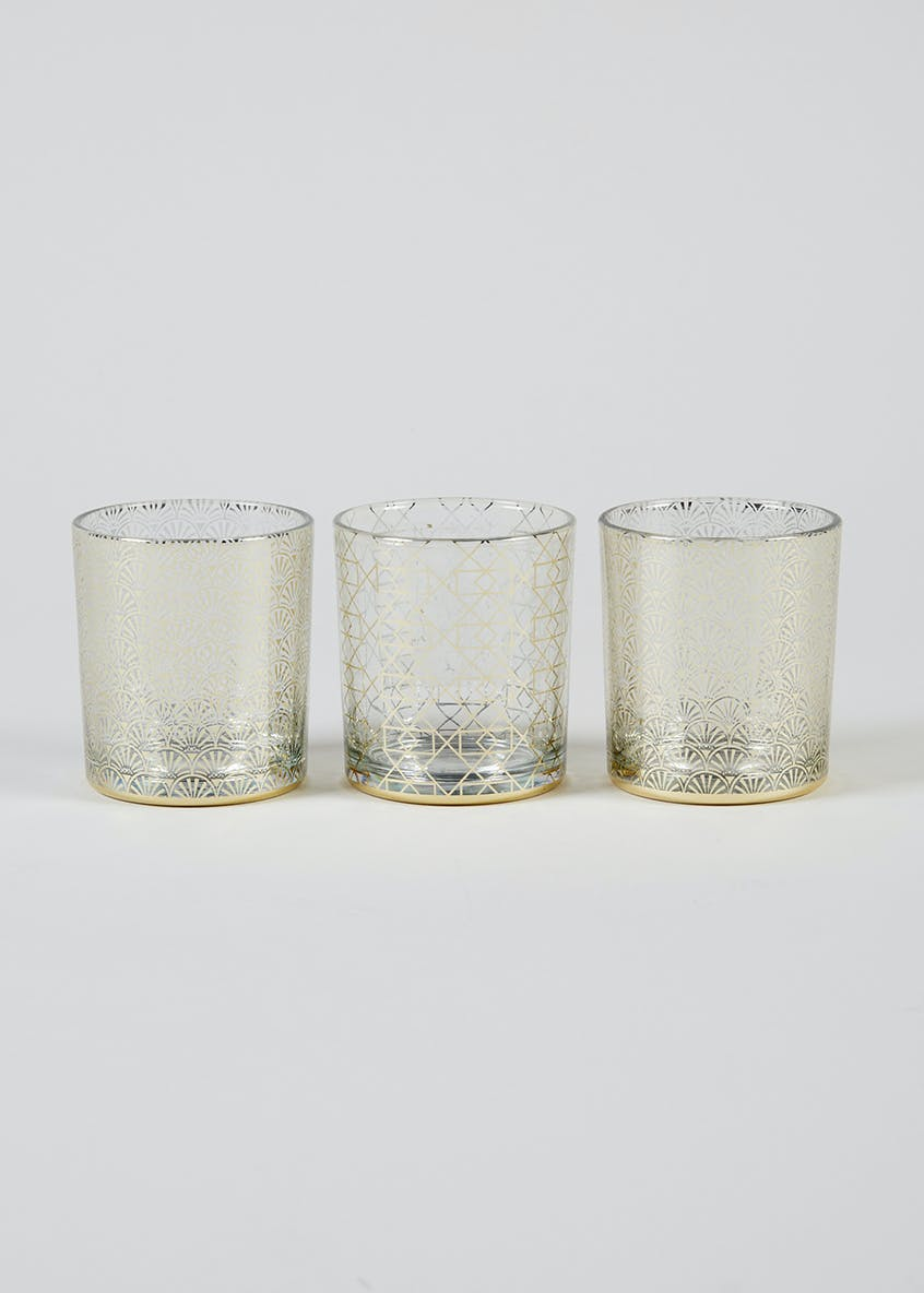 Set of 3 Geometric Tealight Holders