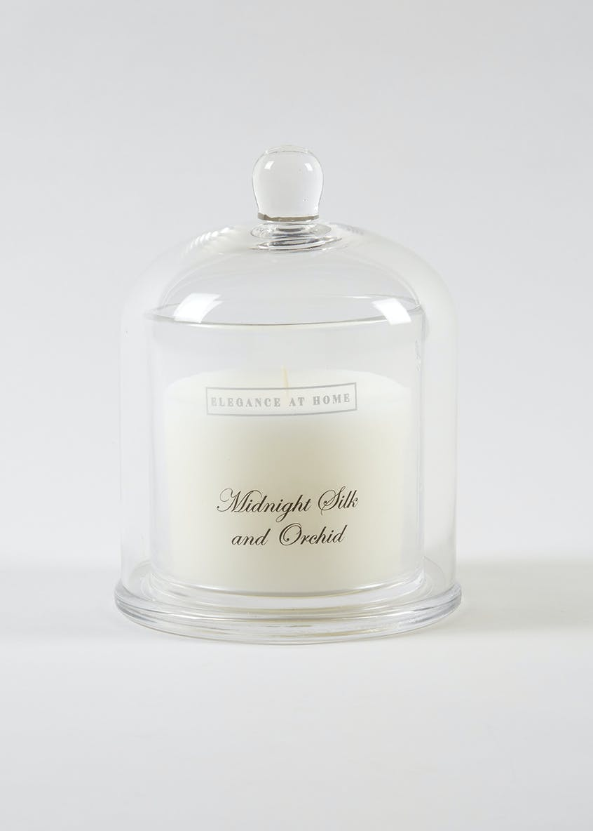 Midnight Silk & Orchid Scented Candle